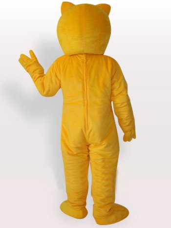 Cool Yellow Bear Short Plush Adult Mascot Costume