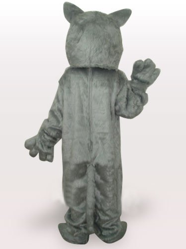 Grey Wolf Short Plush Adult Mascot Costume