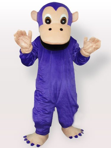 Purple Gorilla Adult Mascot Costume