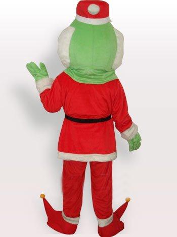 Santa Claus Monster Short Plush Adult Mascot Costume