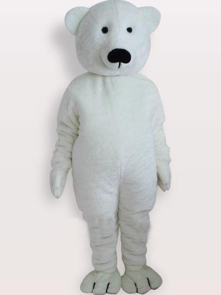 Suitable White Bear Short Plush Adult Mascot Costume