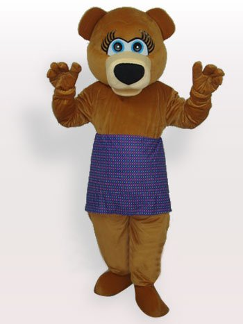 Top Superior Classic Perfect Bear Short Plush Adult Mascot Costume