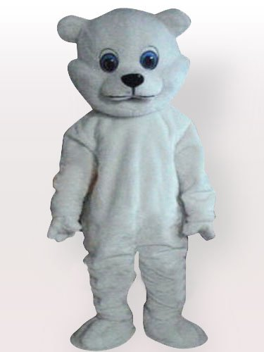 White Little Bear Adult Mascot Costume