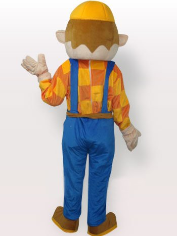 Yellow Hat Boy Short Plush Adult Mascot Costume