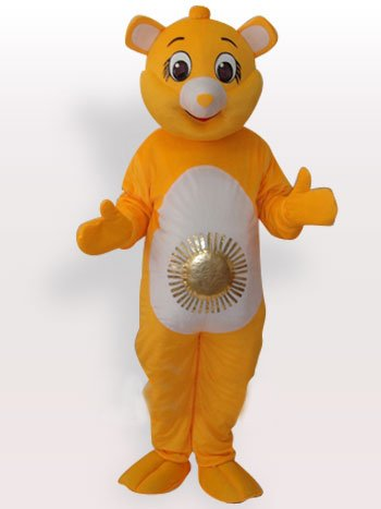 Bear Sun Short Plush Adult Mascot Costume