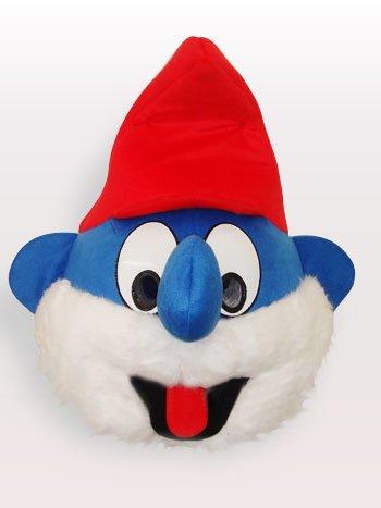 Blue Spirit Head Short Plush Adult Mascot Costume