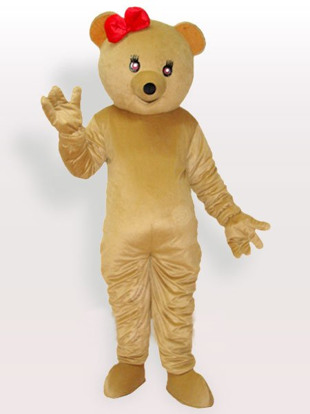 Bowknot on the Head Adult Mascot Costume
