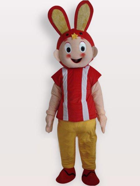 Classic Rabbit Short Plush Adult Mascot Costume