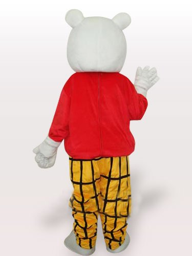 Free Bear Short Plush Adult Mascot Costume
