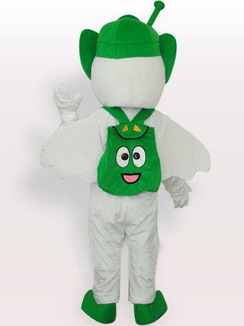 Green Moto Angel Short Plush Adult Mascot Costume