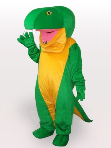 Green Snake Short Plush Adult Mascot Costume