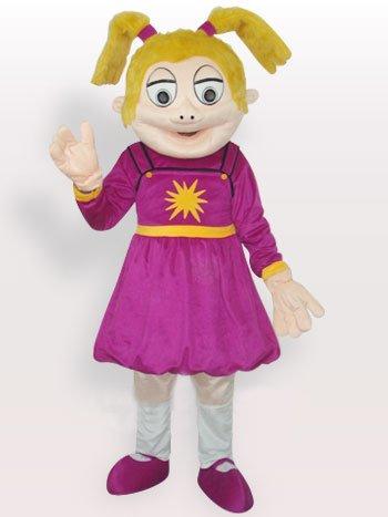 Laughing Girl Short Plush Adult Mascot Costume