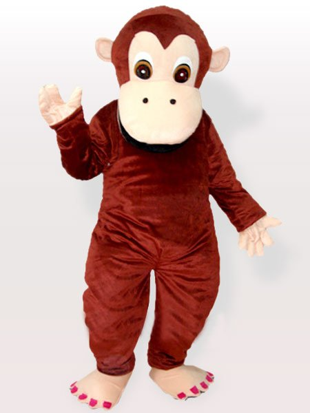 Lovely Chimpanzee Adult Mascot Costume