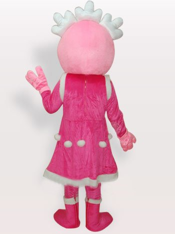 Pink Princess Short Plush Adult Mascot Costume