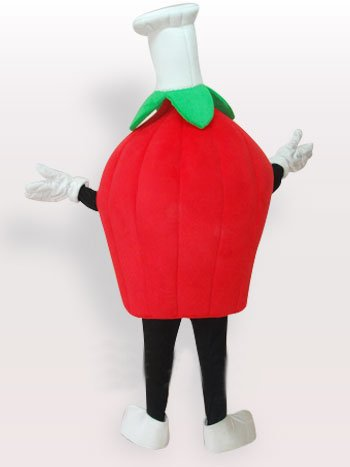 Red Strawberry Short Plush Adult Mascot Costume