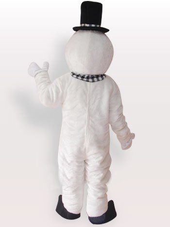 Snowman Short Plush Adult Mascot Costume