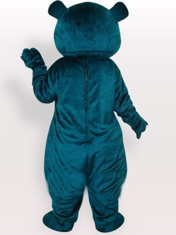 Superior Superior Blue Bear Short Plush Adult Mascot Costume