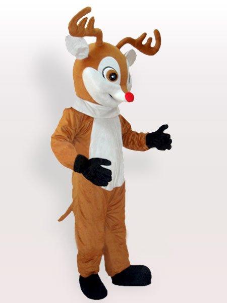 Top Yellow Reindeer Adult Mascot Costume