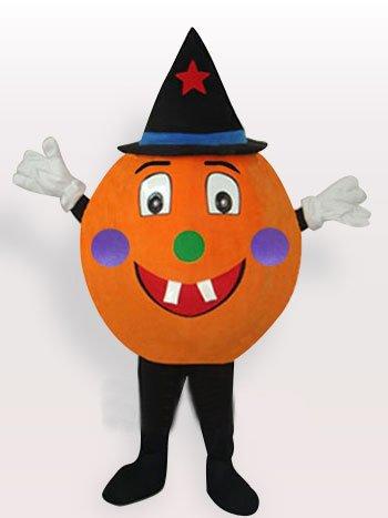 Yellow Pumpkin Short Plush Adult Mascot Costume