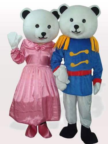 General Bear Couple Adult Mascot Costume