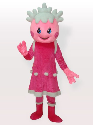 Cool Popular The Snow Pink Adult Mascot Costume