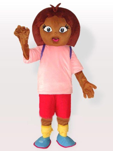 Dora in Pink Shirt Adult Mascot Costume