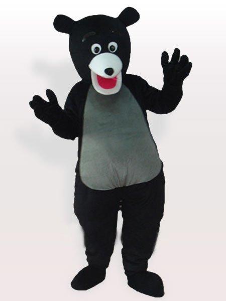 Obese Black Bear Adult Mascot Costume