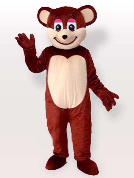 Smiling Brown Bear Adult Mascot Costume