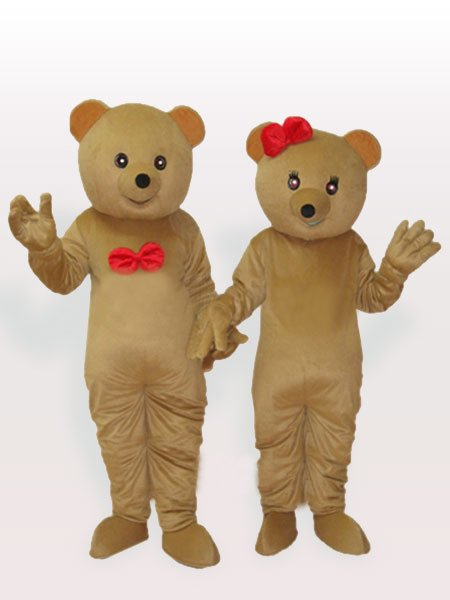 The Brown Bear Couples Adult Mascot Costume