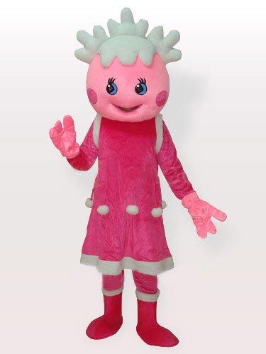 Unusual Popular The Snow Pink Adult Mascot Costume