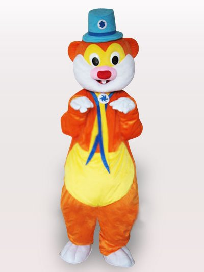 Blue Hat Mouse Adult Mascot Costume