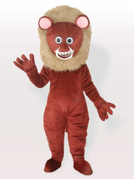 Brown Male Lion Adult Mascot Costume
