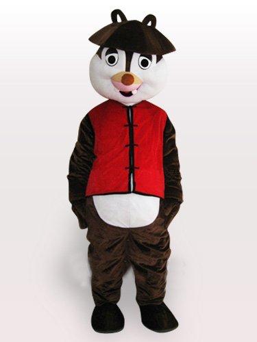 Classic Squirrel Short Plush Adult Mascot Costume