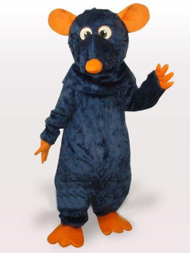 Cool Black Mouse Plush Adult Mascot Costume