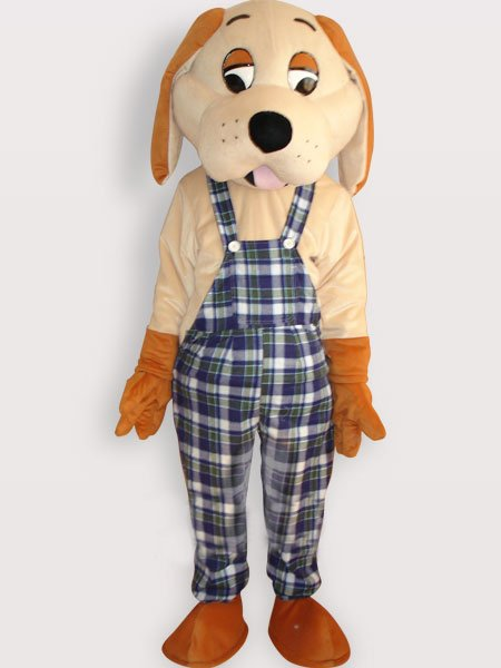 Happy Dog Short Plush Adult Mascot Costume