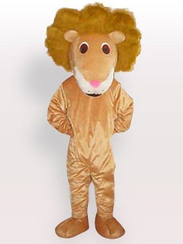Lion of Curving Hair Adult Mascot Costum