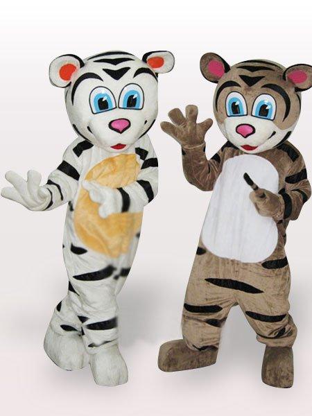 Tiger Brothers Short Plush Adult Mascot Costume