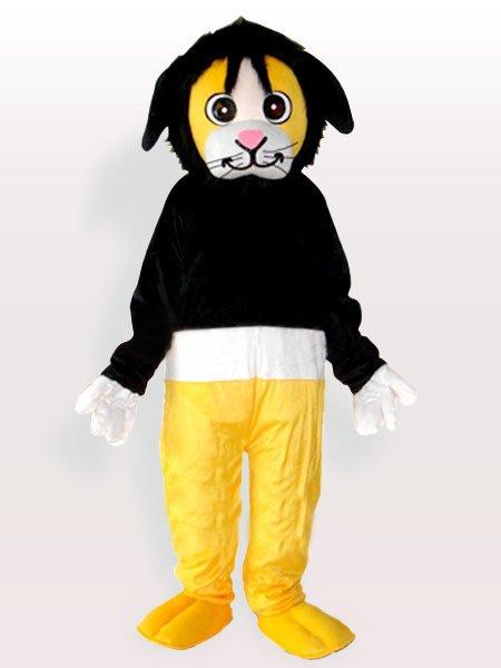 Tony Bear in Black Sweater Adult Mascot Costume