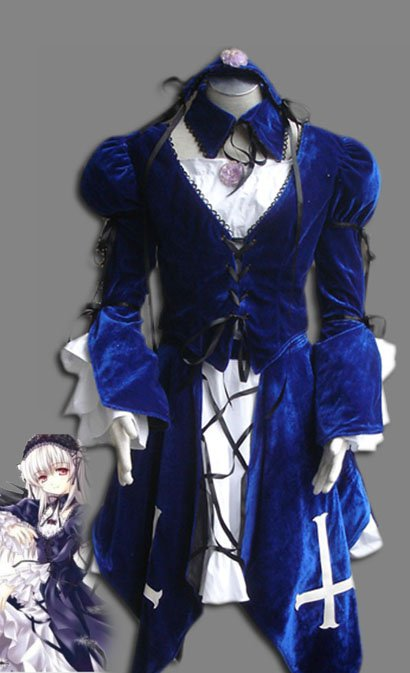 Rozen Maiden Suigintou Mercury Lamp Lolita Halloween Cosplay Costume