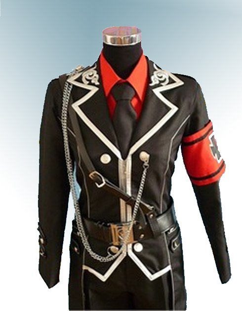 Peerless Black Sanctuary Halloween Cosplay Costume Military Uniform