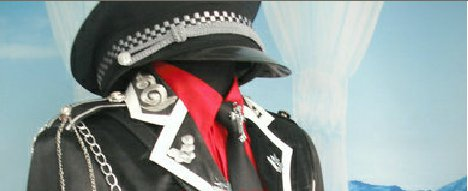 Peerless Black Sanctuary Halloween Cosplay Costume Military Uniform