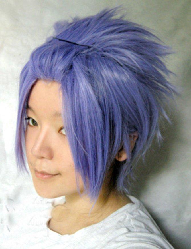 StarrySky Eggplant Purple Short Wig