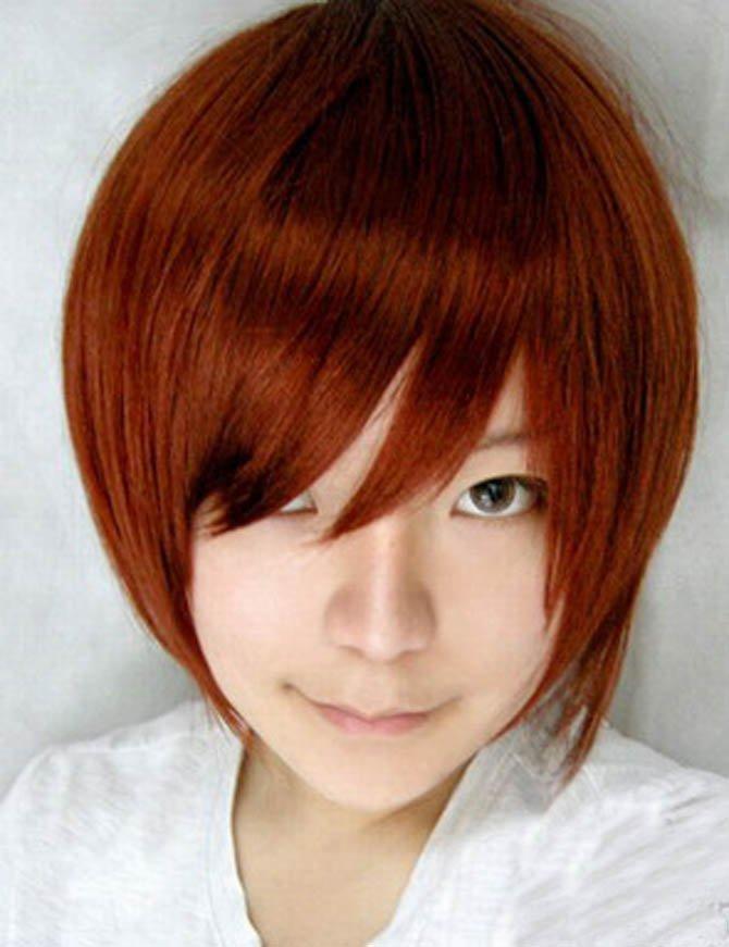 Vocaloid meiko red brown wig