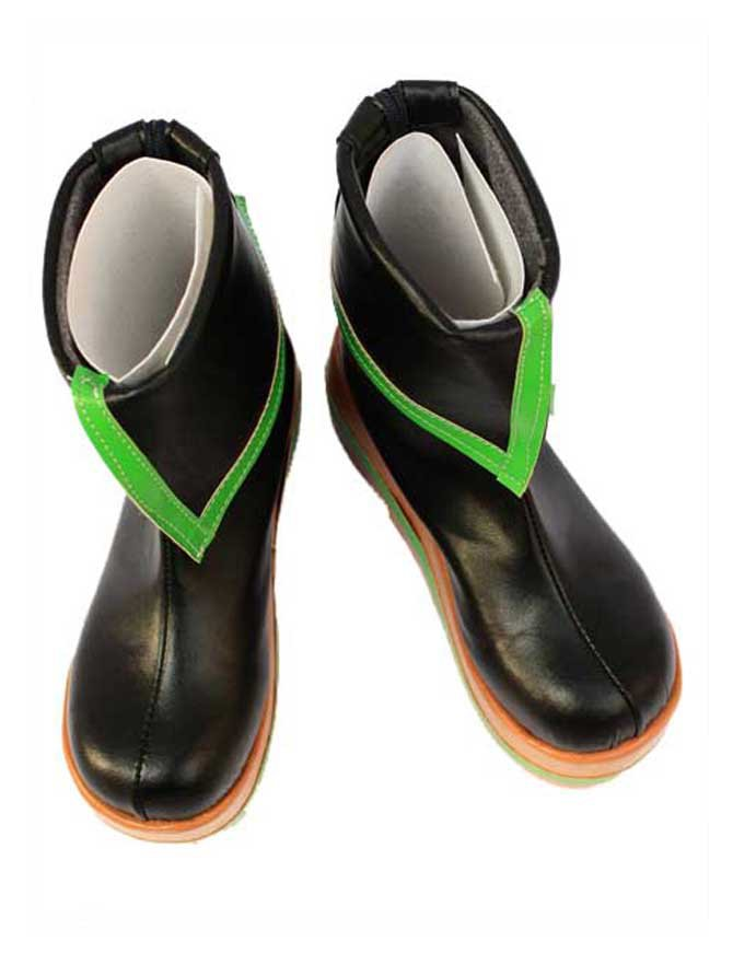 Vocaloid Black Faux Leather Halloween Cosplay Shoes