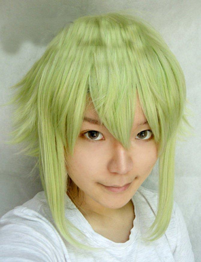 Vocaloid Gumi - Megpoid green medium-length wig
