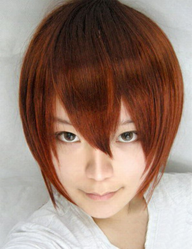 Vocaloid Meiko Reddish Brown Short Hair Halloween Cosplay Wig