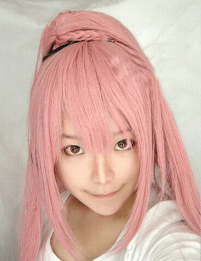 Vocaloid-ruka Smoke Pink Long Hair