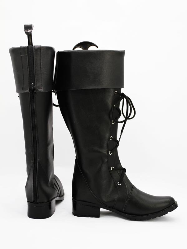 AKB0048 Cosplay River Black Cosplay Boots