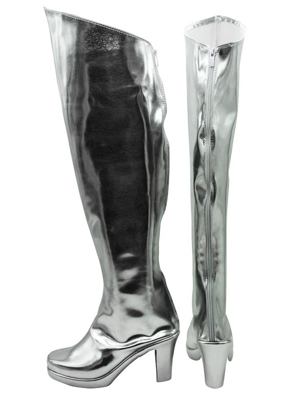 AKB0048 Cosplay Tomomi Itano Silver Cosplay Boots