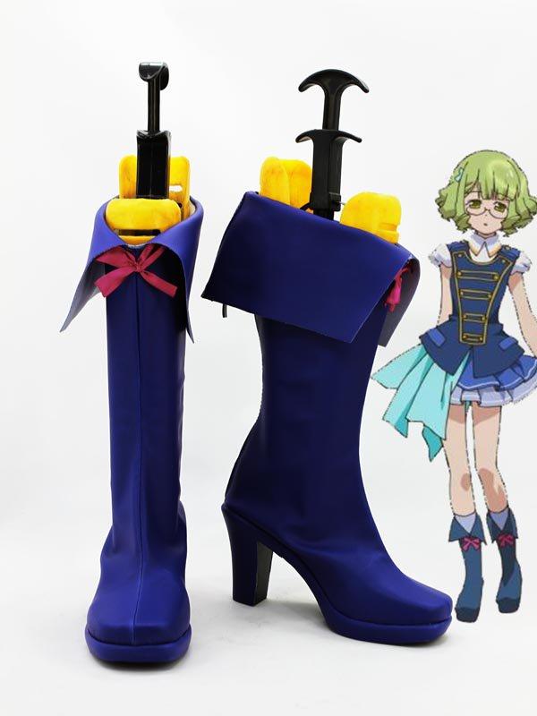 AKB0048 Suzuko Kanzaki Blue Cosplay Boots
